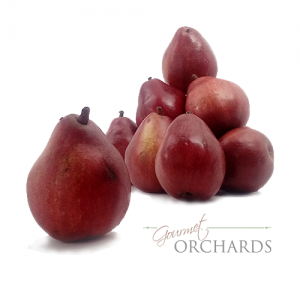organic red d'anjou pears